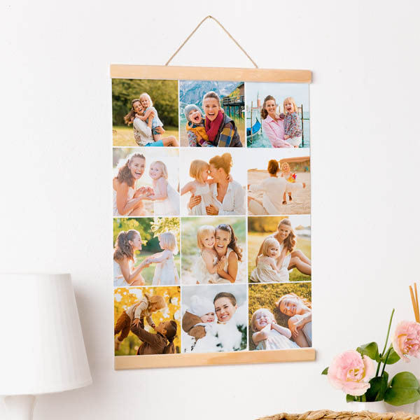Stampa Poster Multifoto Poster 30x40 - 50x70 con astine o cornici